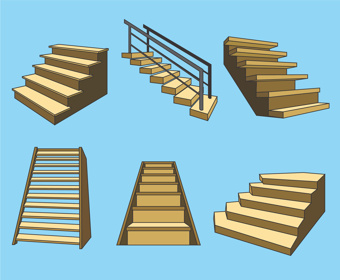 1136x936 Wooden Stairs Vector Vector Art Amp Graphics