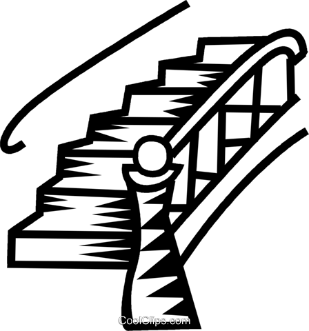 448x480 Stairs Royalty Free Vector Clip Art Illustration Vc034613