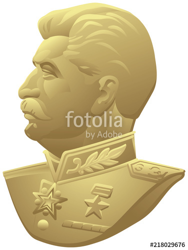 376x500 Joseph Stalin Realistic Vector Portrait Based On The Ussr Medal