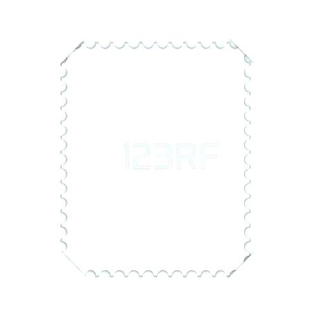 450x450 Postage Stamp Vector Blank Square Template Post Border Round