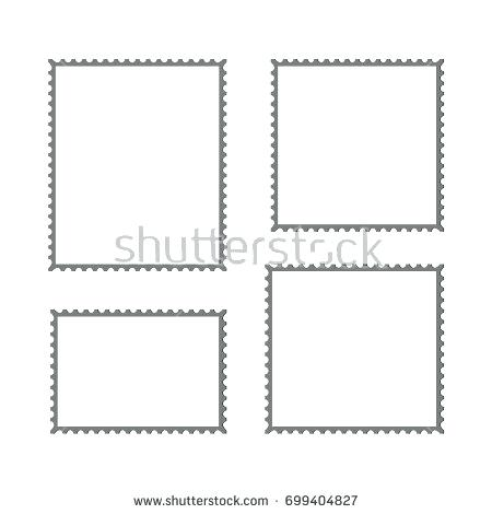 450x470 Postage Stamp Vector Blank Square Template Post Border Asctech.co
