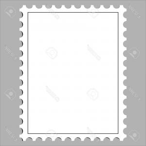 300x300 Postage Stamp Vector Post Card Blank Post Postcard Mail Border