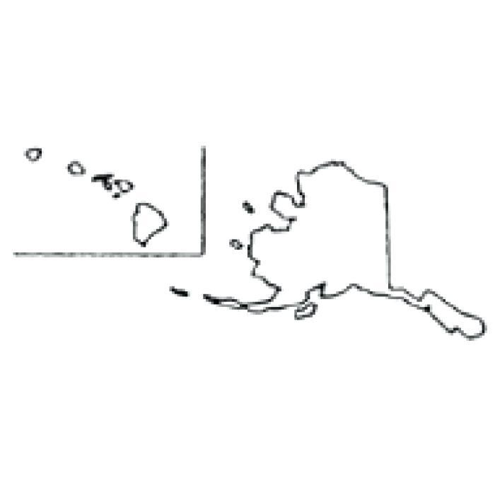 700x700 Alaska Map Outline Vector Alaska Map Outline Teacher Outline