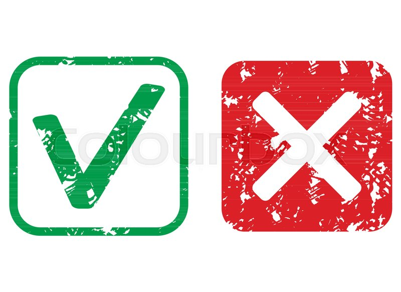 800x582 Approval And Rejection Rubber Stamp Texture. Vector Rubber Seal