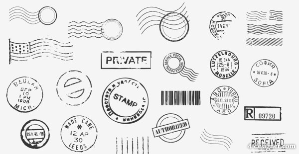 600x310 4 Designer Stamp Stamp Vector Material