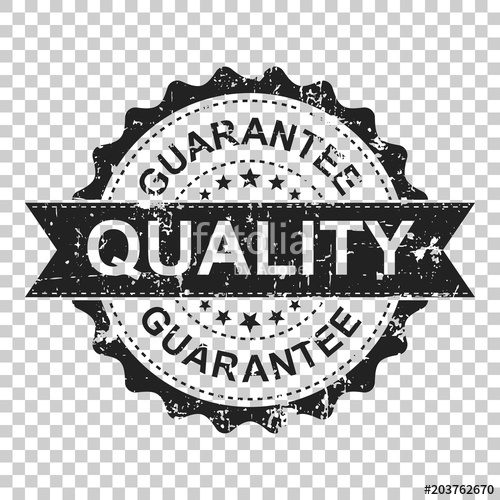 500x500 Guarantee Scratch Grunge Rubber Stamp. Vector Illustration On