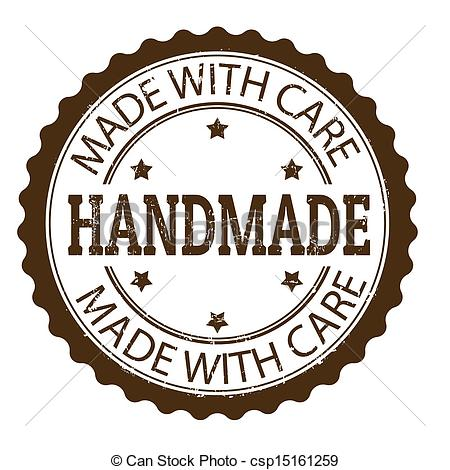 450x470 Handmade Stamp. Handmade Grunge Rubber Stamp, Vector... Clipart