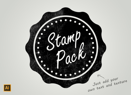 550x400 Simple Stamp Pack 1 Vector Ai Pixelmental