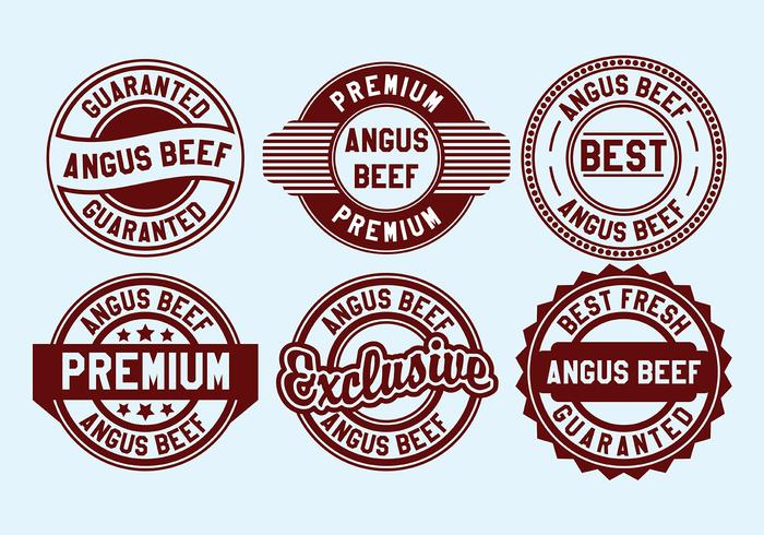 700x490 Angus Beef Stamp Vector