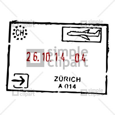 400x400 Zurich Passport Stamp Vector Image