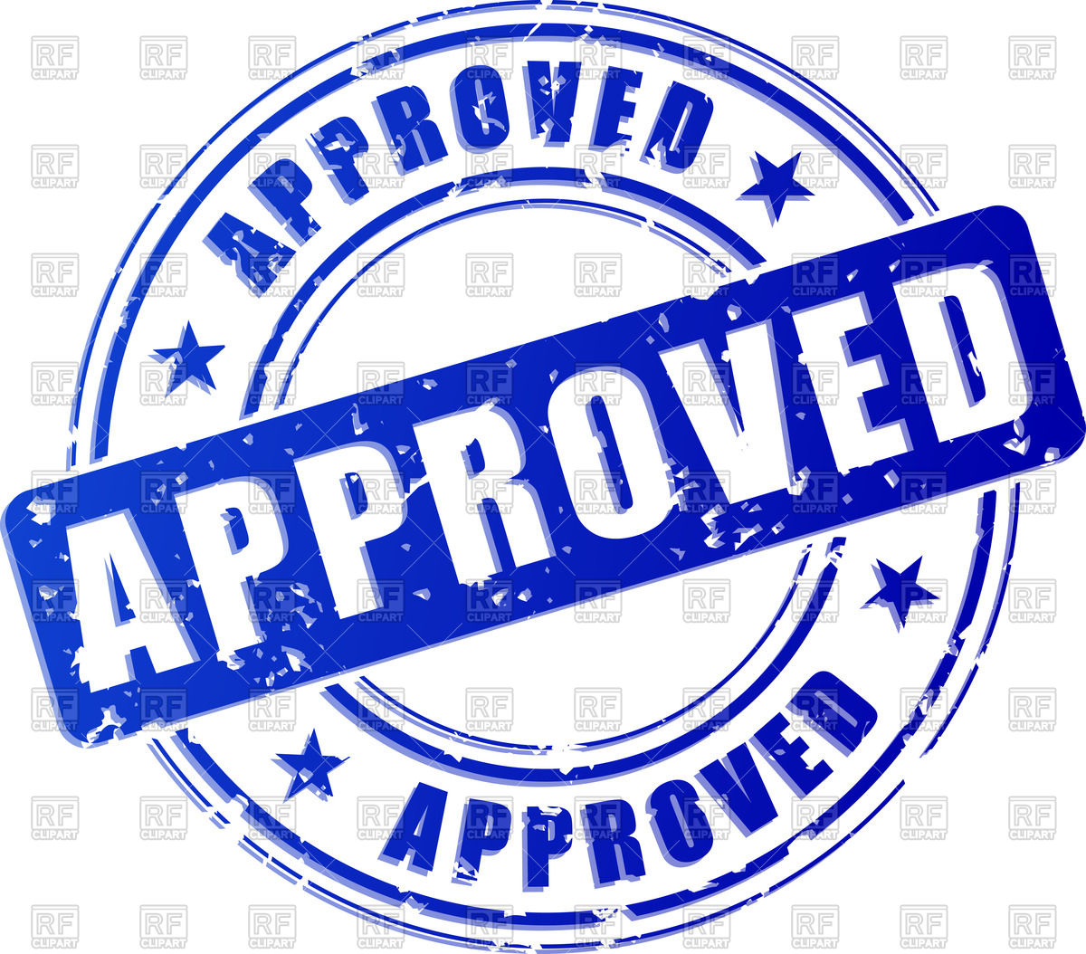 1200x1054 Approved Blue Stamp Vector Image Vector Artwork Of Signs