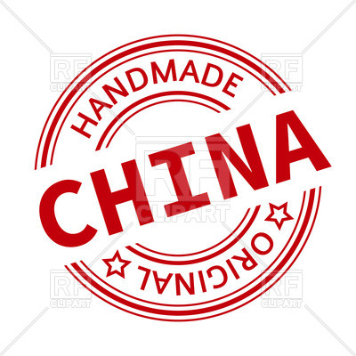 400x400 Made In China Red Round Stamp Vector Image Vector Artwork Of