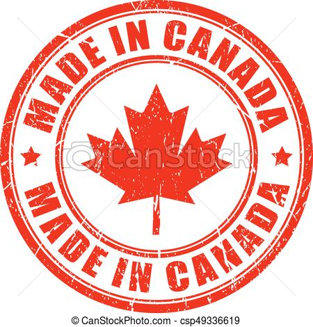 450x470 Made In Canada Rubber Stamp. Made In Canada Rubber Vector Stamp.