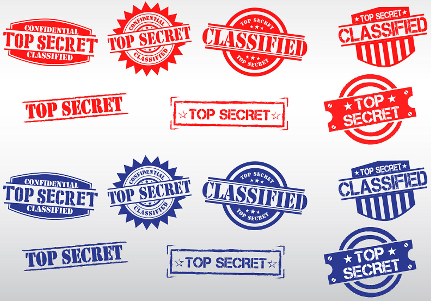 1400x980 Top Secret Stamp Vectors