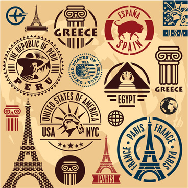 368x368 Travel Stamp Free Vector Download (2,194 Free Vector) For