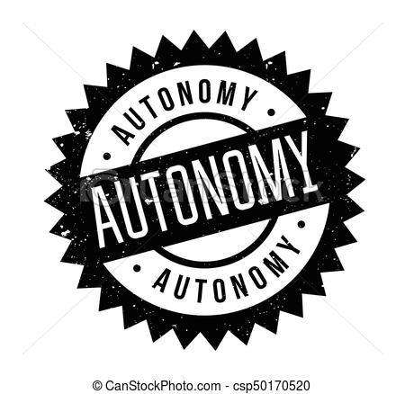 450x438 Autonomy Rubber Stamp. Grunge Design With Dust Scratches. Effects