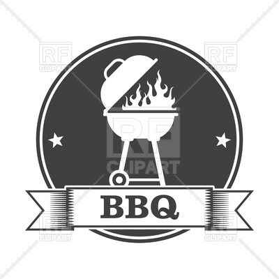 400x400 Barbecue (Bbq) And Grill Party Stamp Vector Image Vector Artwork