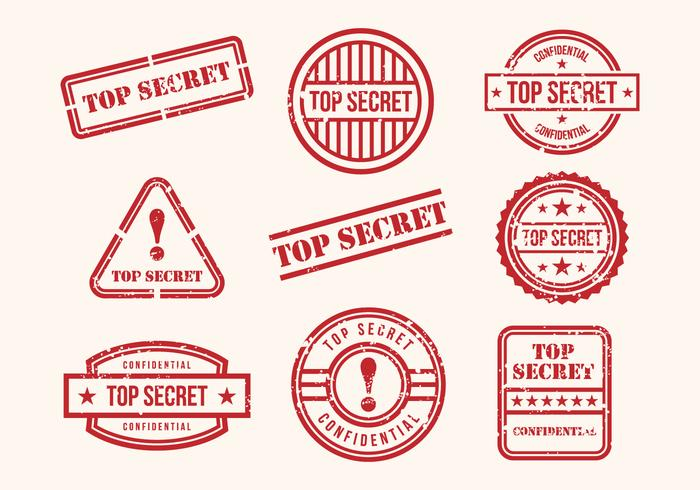700x490 Free Top Secret Stamps Vector
