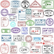 225x225 Countries In The Visa Stamp Vector Free Vector 4vector