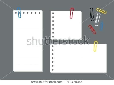450x335 Paper Staple A Vector Illustration Three Pieces Of Lined Paper