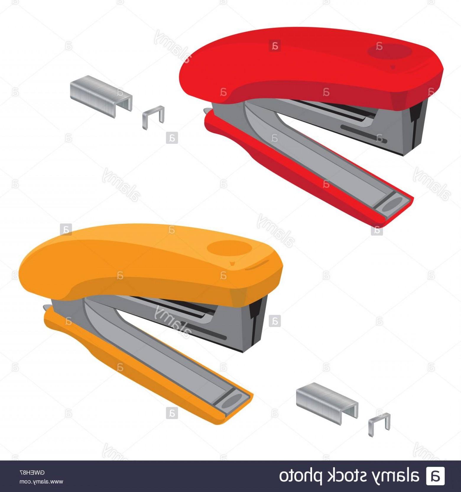 1560x1666 Stock Photo Stapler Staple Vector Illustration Office Background