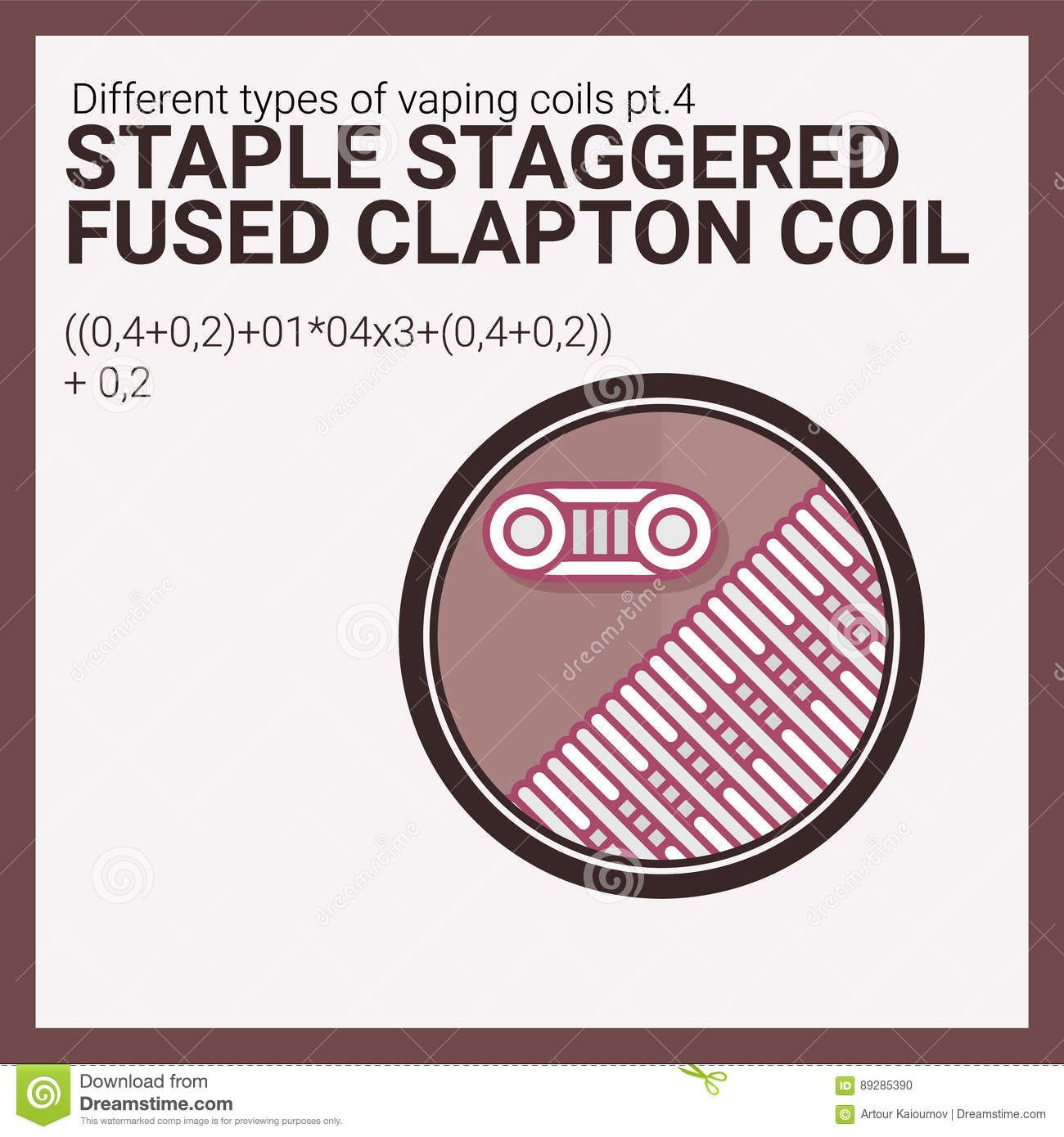 1300x1390 Vector Illustration Vaping Coil. Part Of Big Set. Staple Staggered