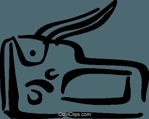 480x382 Staple Gun Royalty Free Vector Clip Art Illustration Vc034730