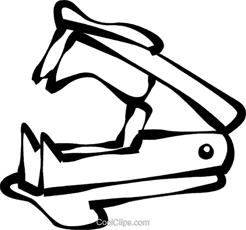 480x449 Staple Remover Royalty Free Vector Clip Art Illustration Vc021775