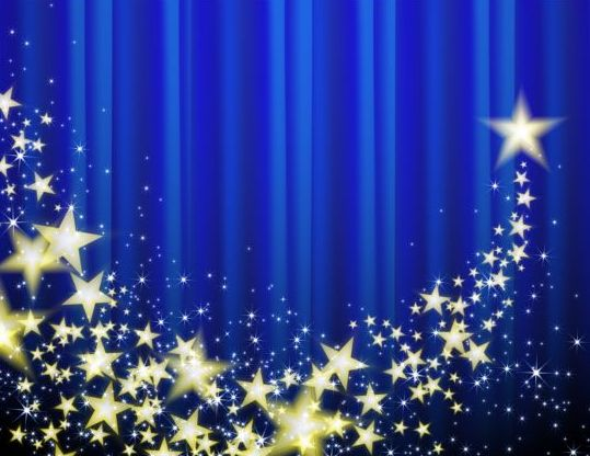 539x416 Blue Curtain With Shiny Star Background Vector Free Download