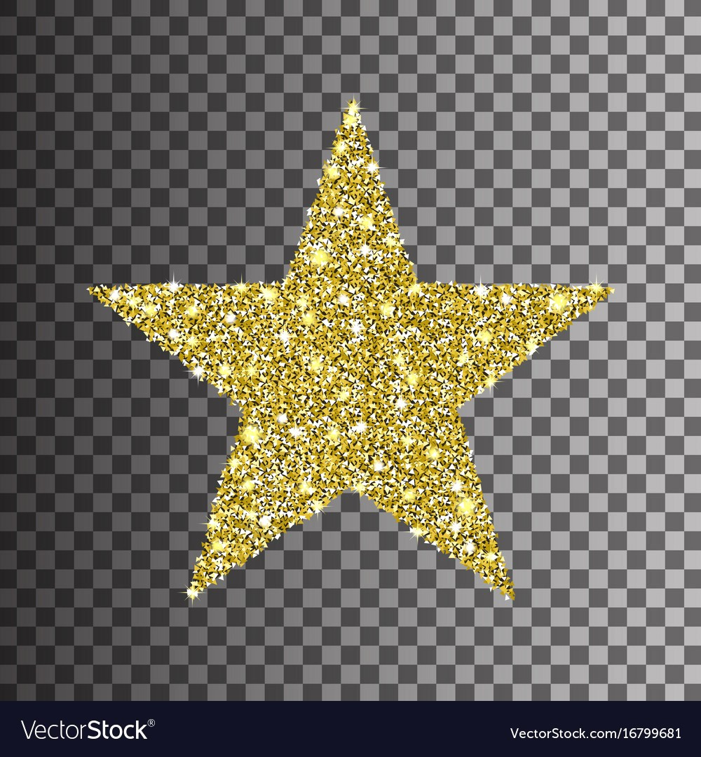 1000x1080 Gold Glitter Star On Transparent Background Vector 16799681 10