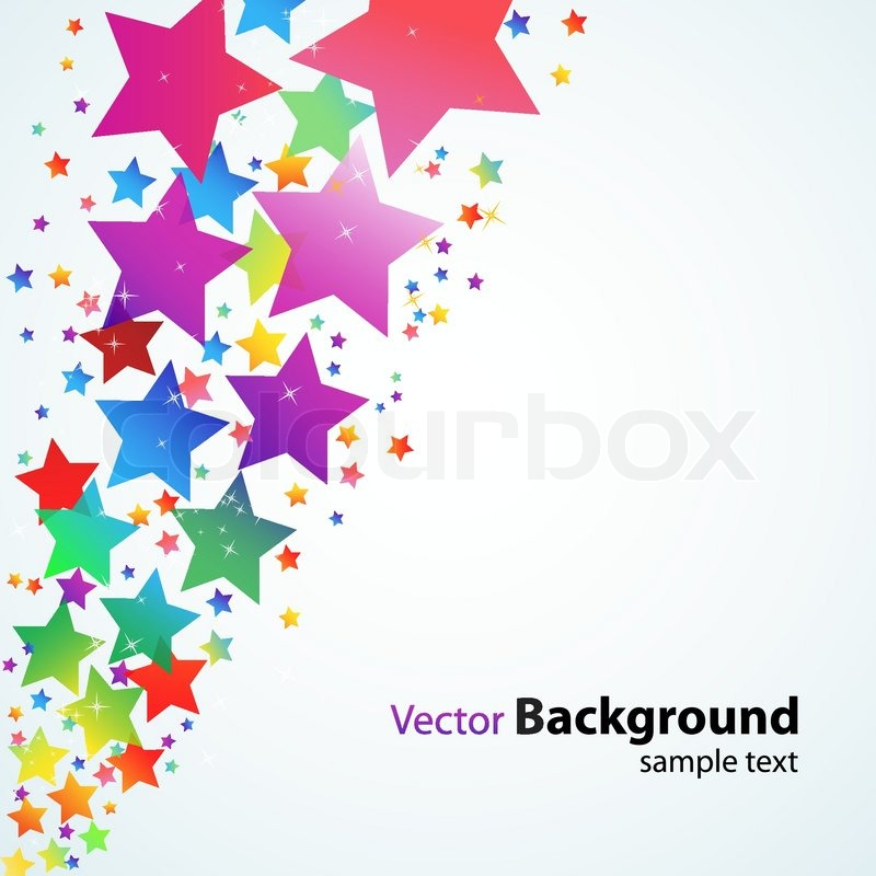 800x800 Illustration Of Vector Background With Colorful Stars Stock
