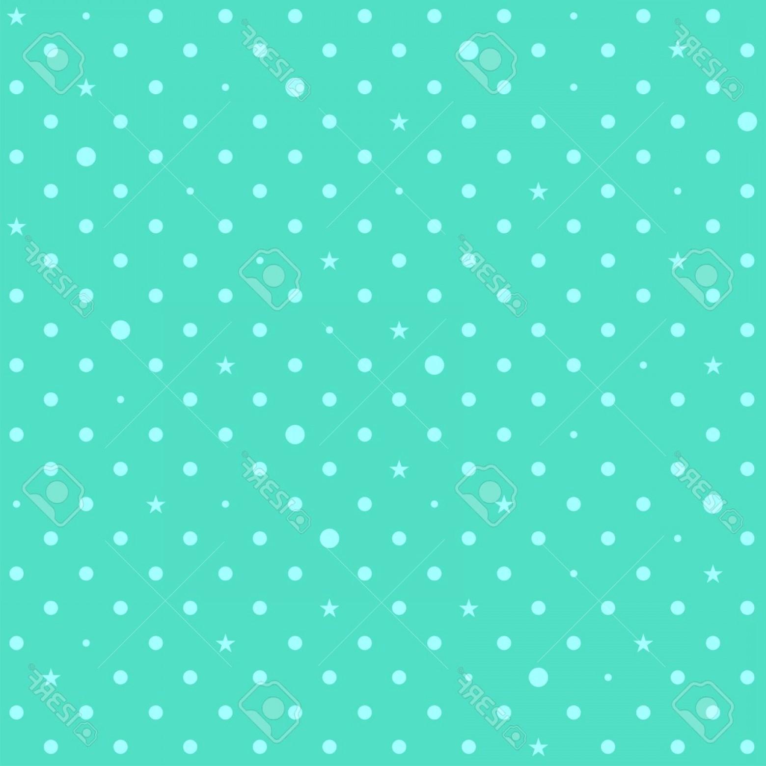 1560x1560 Photostock Vector Blue Green Mint Star Polka Dots Background