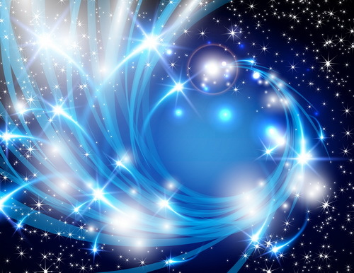 500x386 Abstract Blue Elements With Star Light Background Vector