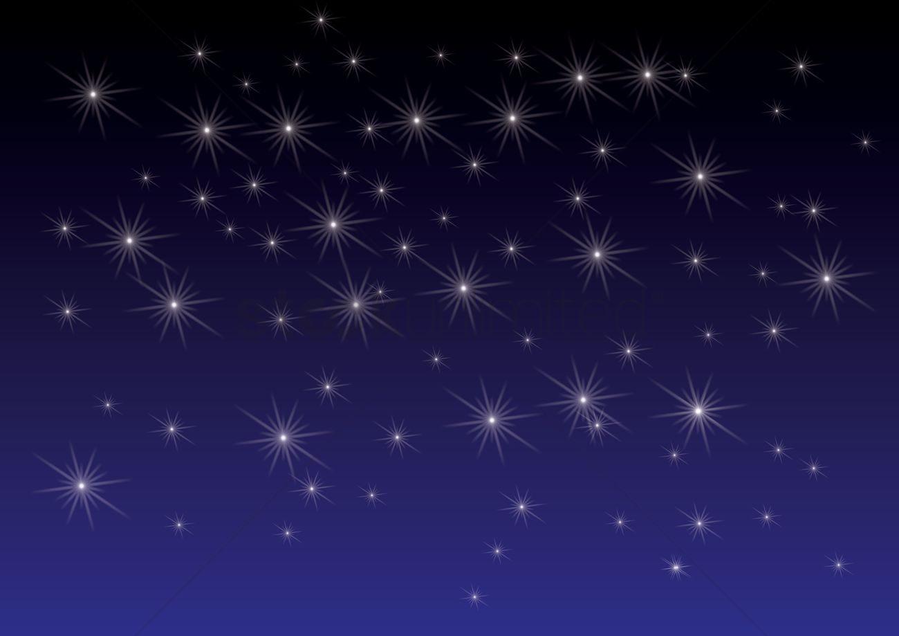 1300x919 Twinkling Stars Background Vector Image
