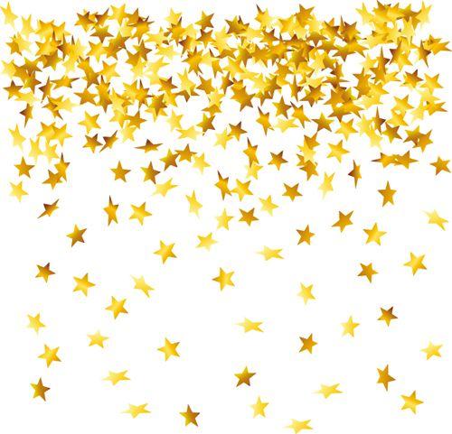 500x481 Gold Stars In White Estrellas