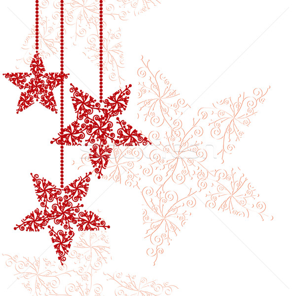 600x600 Abstract Red Christmas Star Background Vector Illustration