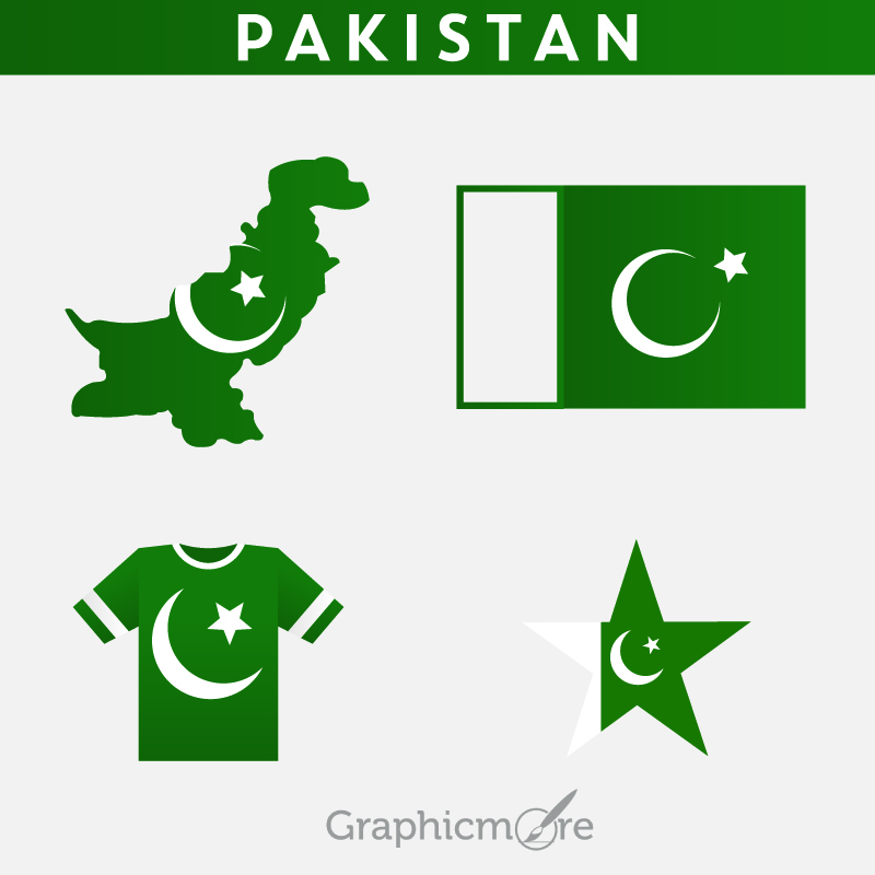 800x800 Pakistani Flag Map Jersey And Star Badge Design Free Vector File
