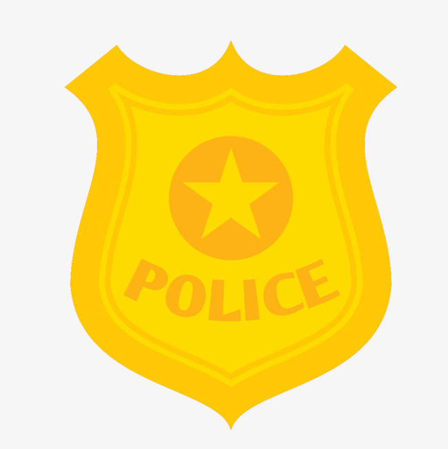 650x651 Police Star Badge Vector Free