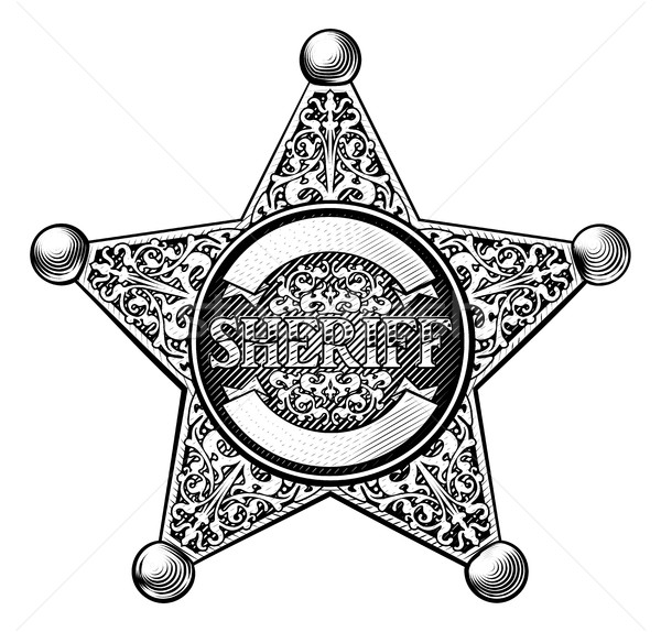 600x574 Sheriff Star Badge Vector Illustration Christos Georghiou