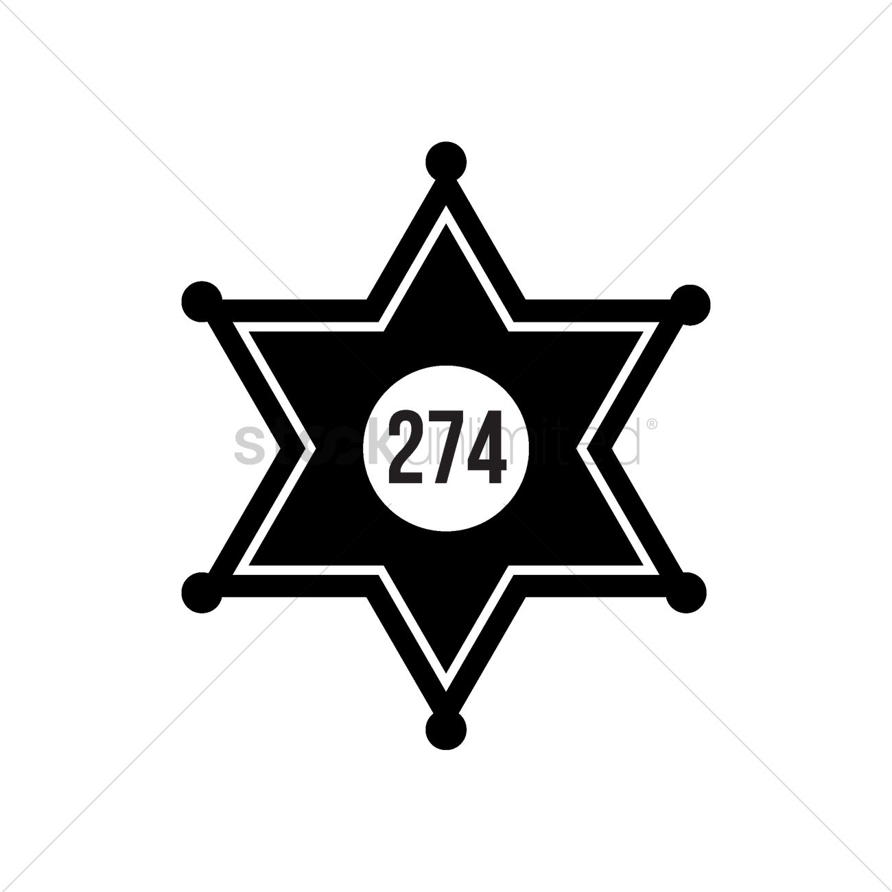 1300x1300 Sheriff Star Badge Vector Image