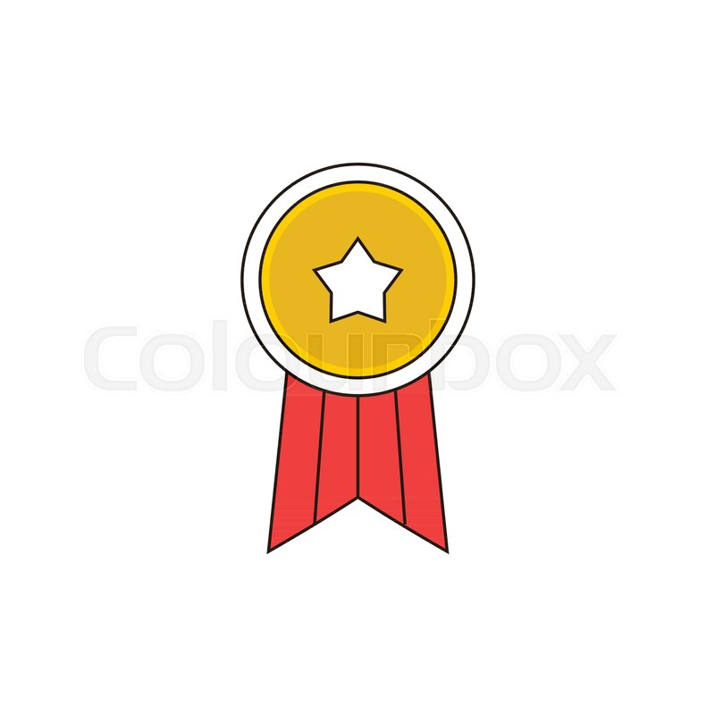 800x800 Simple Star Badge Vector Outline Icon Illustration Graphic Design