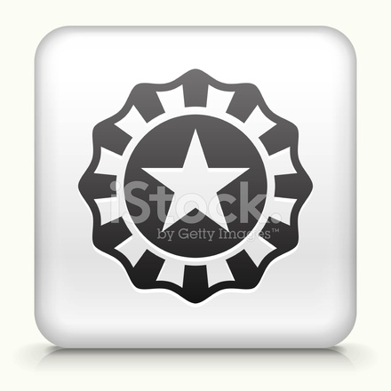 440x440 Square Button With Star Badge Royalty Free Vector Art Stock Vector