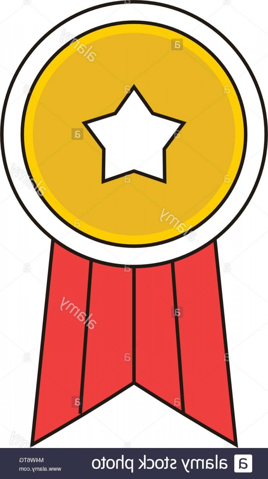 934x1668 Stock Photo Simple Star Badge Vector Outline Icon Illustration