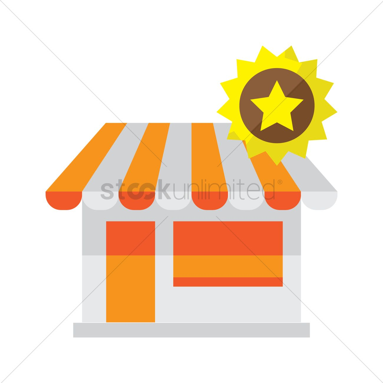 1300x1300 Store With Star Badge Vector Image
