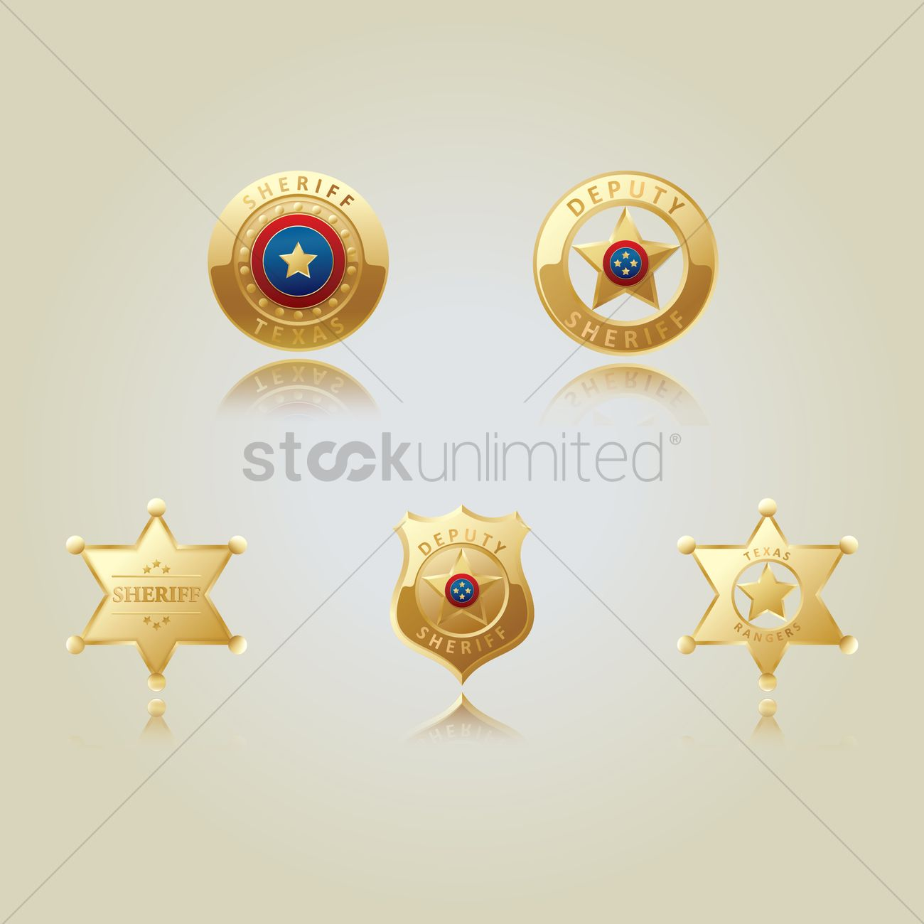 1300x1300 Free Collection Of Sheriff Star Badges Vector Image