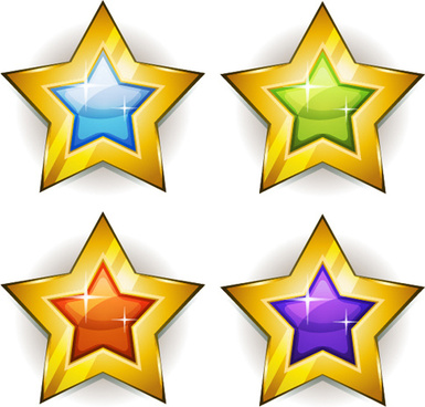 385x368 Gold Star Badge Free Vector Download (7,878 Free Vector) For