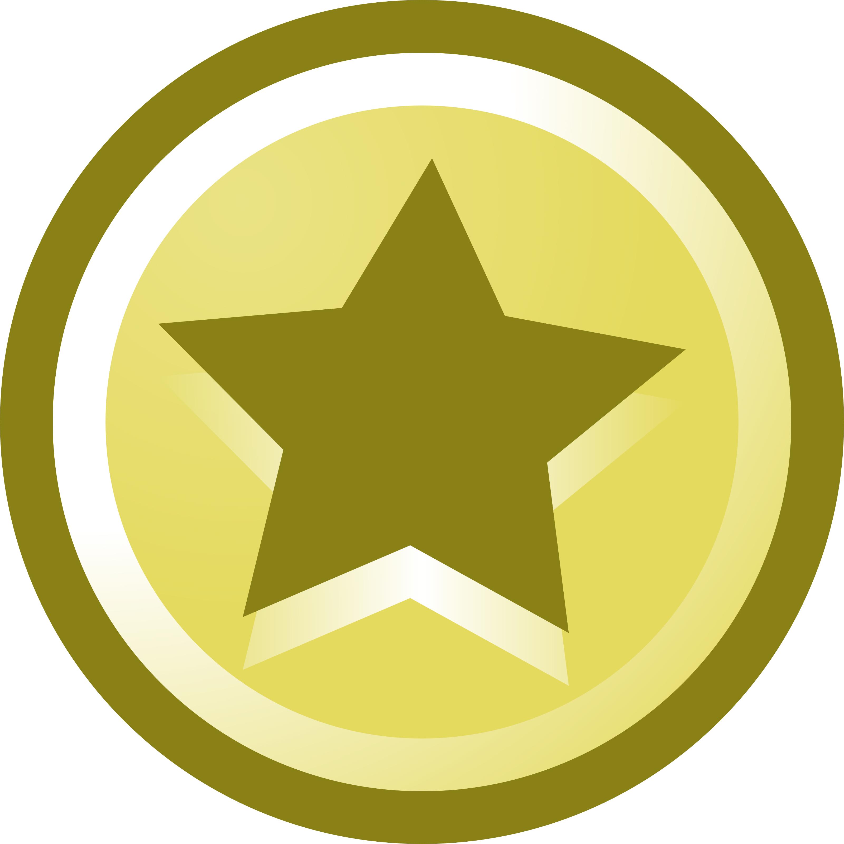 3200x3200 Five Star Circle Clipart