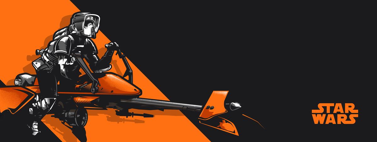 1200x451 Star Wars Vector Art On Behance