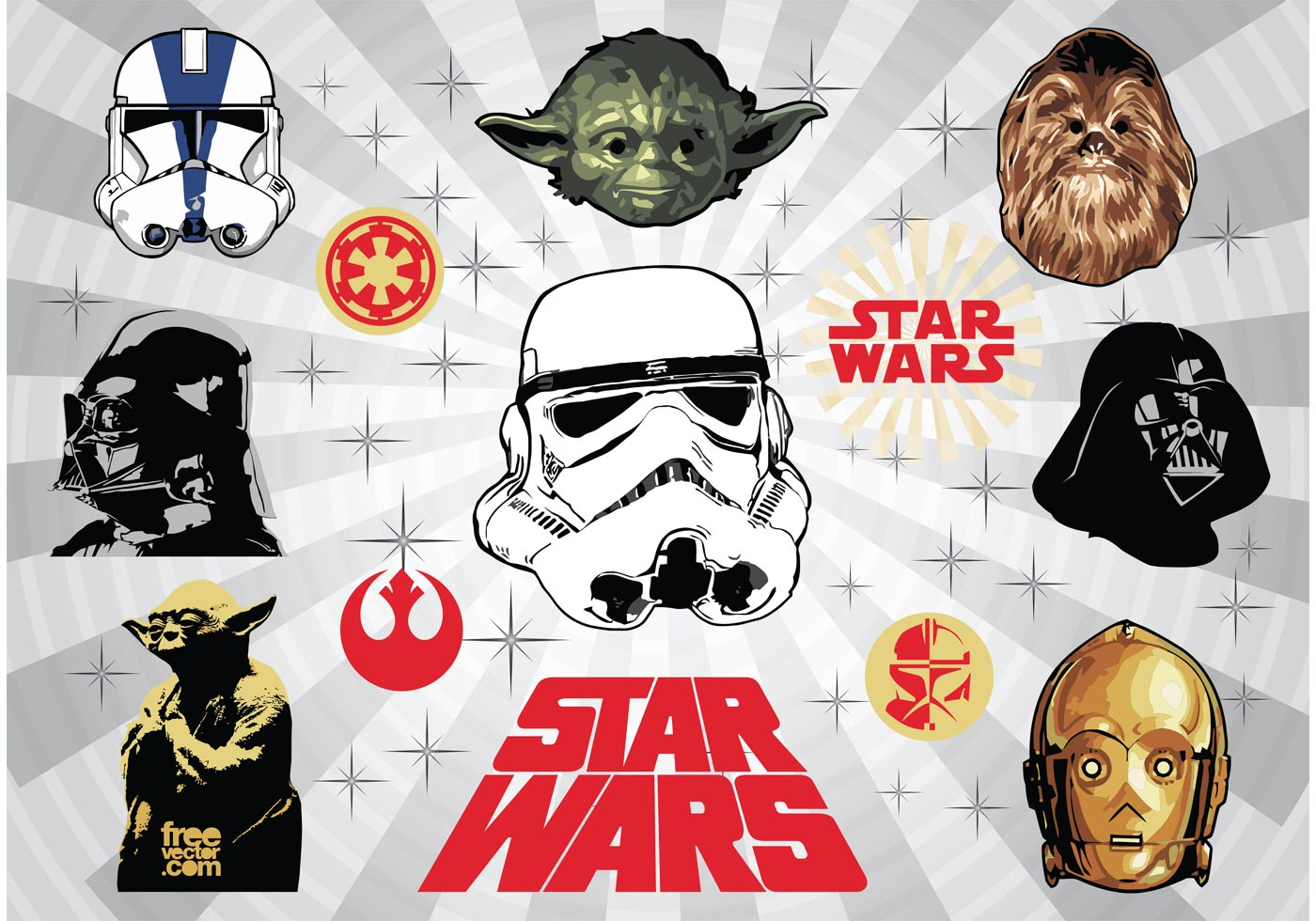 1400x980 Star Wars Vector Art
