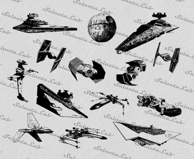642x525 Digital Svg Png Tie Fighter Star Destroyer X Wing Star Wars Etsy